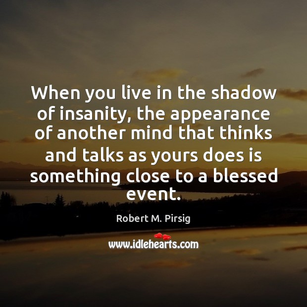 When you live in the shadow of insanity, the appearance of another Image