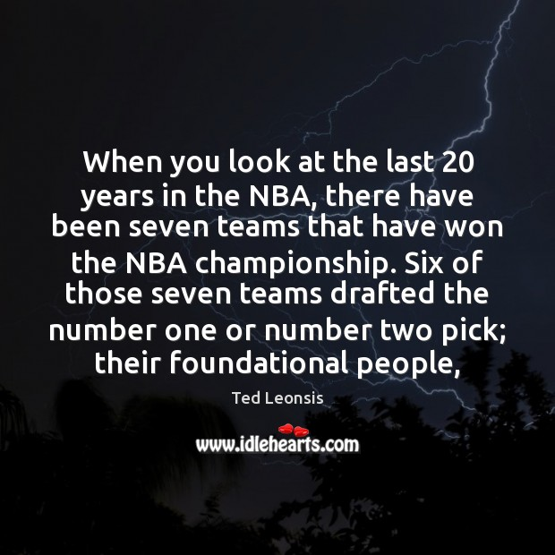 When you look at the last 20 years in the NBA, there have Image
