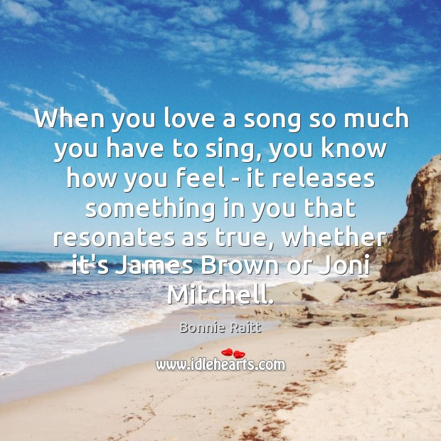 When you love a song so much you have to sing, you Image