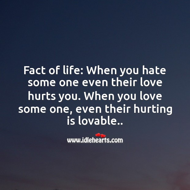 When you love some one, even their hurting is lovable.. Love Hurts Quotes Image