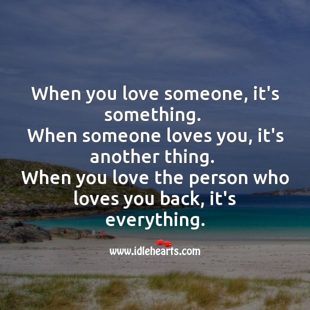 When you love the person who loves you back, it's Godly. Image