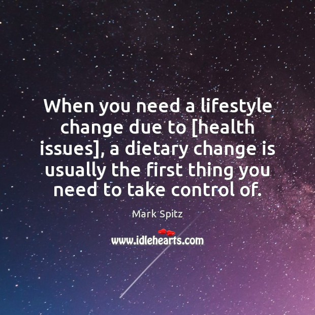 When you need a lifestyle change due to [health issues], a dietary Image