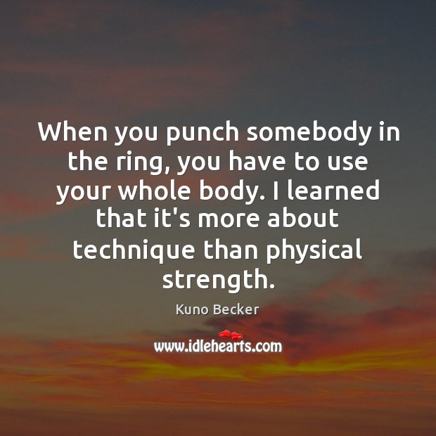 When you punch somebody in the ring, you have to use your Image