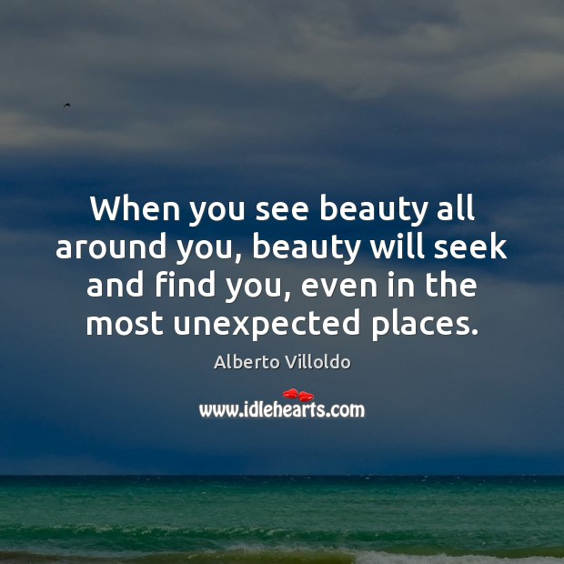 When you see beauty all around you, beauty will seek and find Image