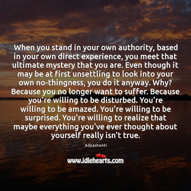 Image, When you stand in your own authority, based in your own direct