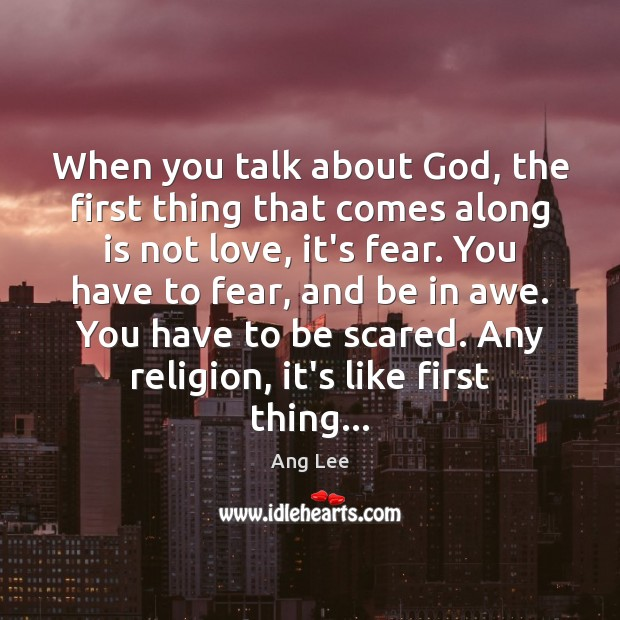 When you talk about God, the first thing that comes along is Image
