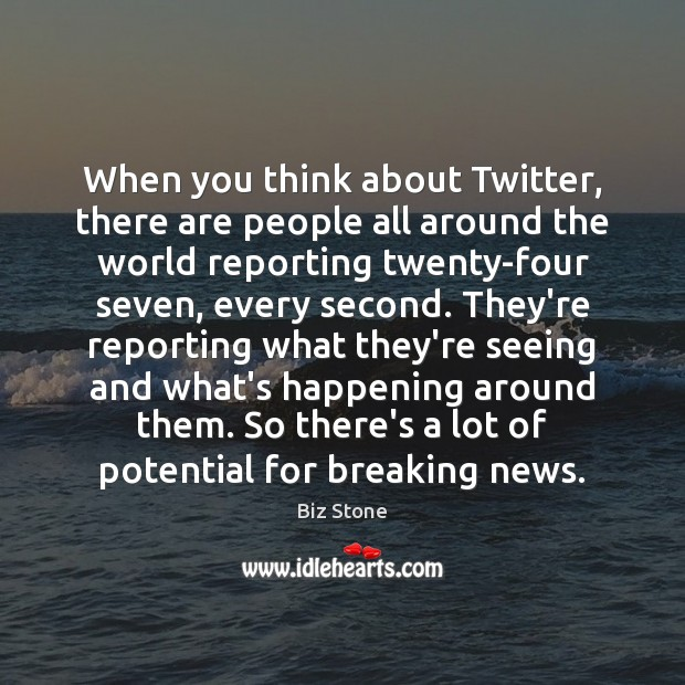 Image, When you think about Twitter, there are people all around the world