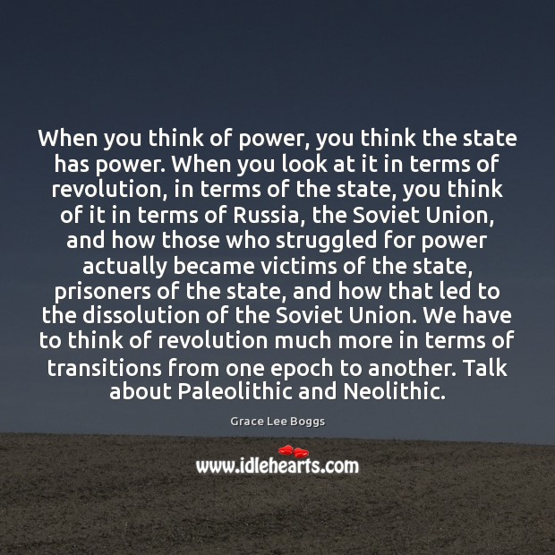 When you think of power, you think the state has power. When Image
