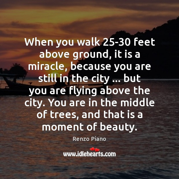 When you walk 25-30 feet above ground, it is a miracle, because Image