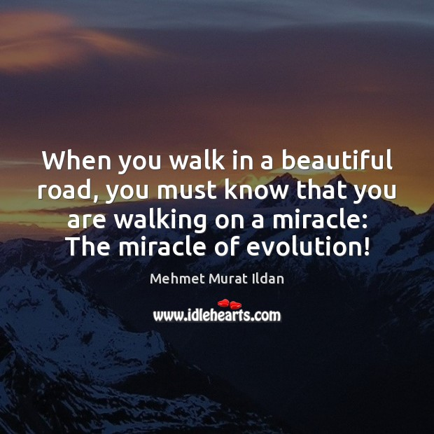 When you walk in a beautiful road, you must know that you Image