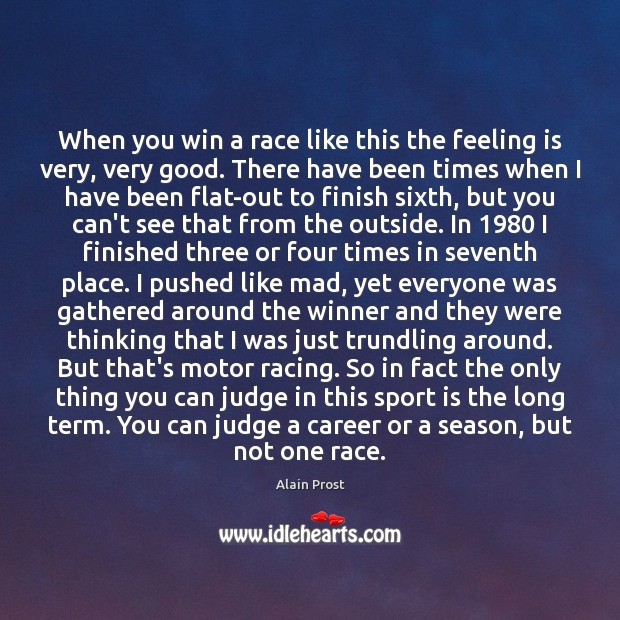 Image, When you win a race like this the feeling is very, very