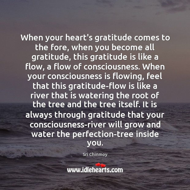 When your heart's gratitude comes to the fore, when you become all Sri Chinmoy Picture Quote