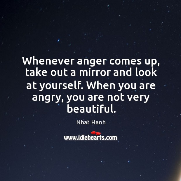 Image, Whenever anger comes up, take out a mirror and look at yourself.