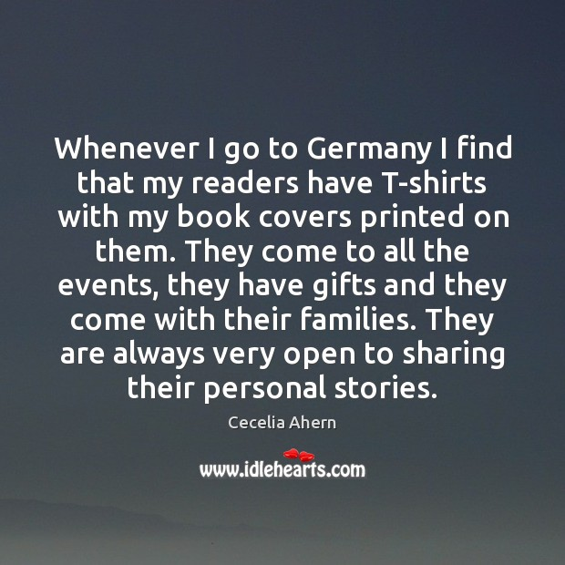 Whenever I go to Germany I find that my readers have T-shirts Image