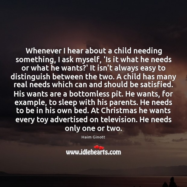Whenever I hear about a child needing something, I ask myself, 'Is Image