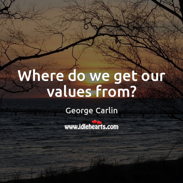 Where do we get our values from? Image