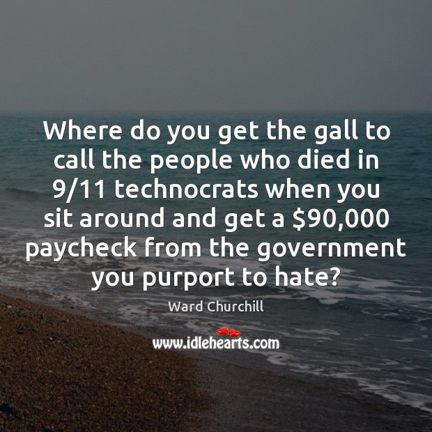 Where do you get the gall to call the people who died Image