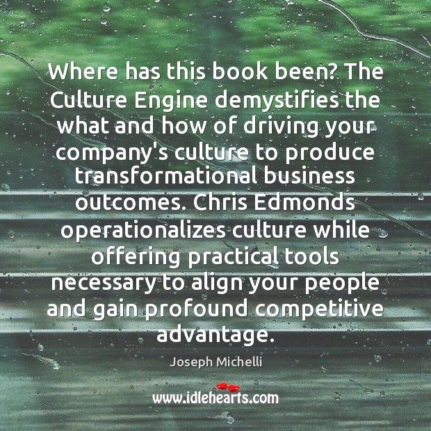Where has this book been? The Culture Engine demystifies the what and Image