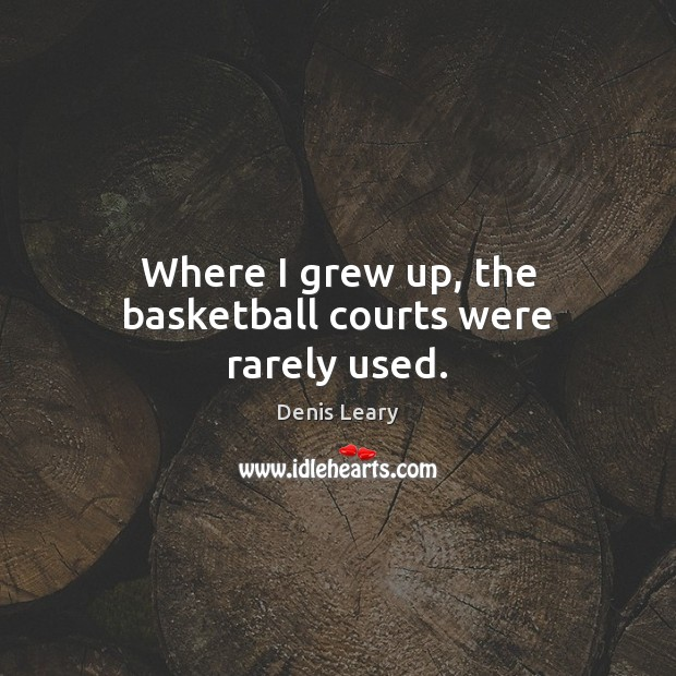 Where I grew up, the basketball courts were rarely used. Image