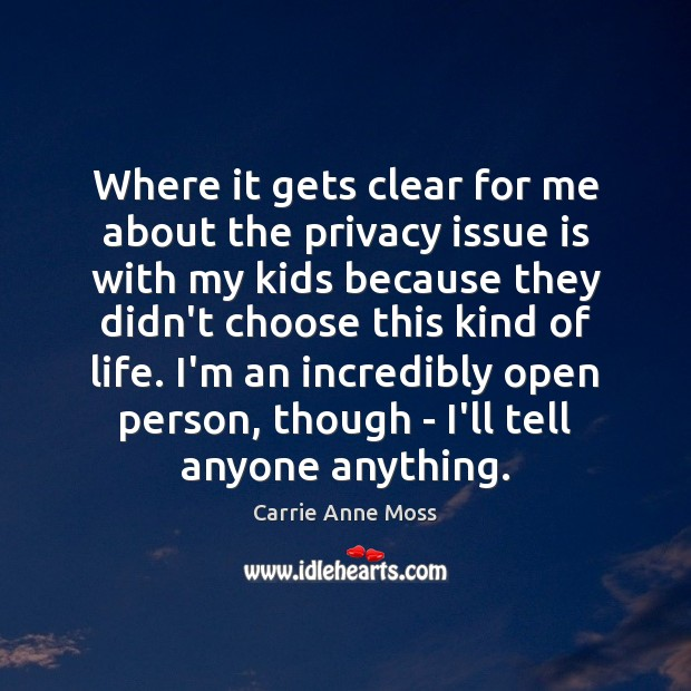 Where it gets clear for me about the privacy issue is with Image