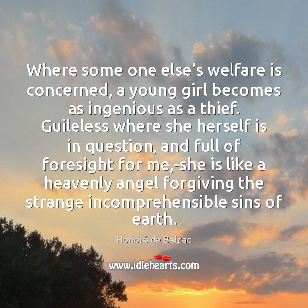 Image, Where some one else's welfare is concerned, a young girl becomes as