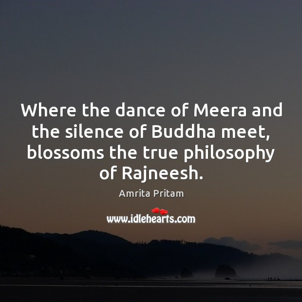 Image, Where the dance of Meera and the silence of Buddha meet, blossoms