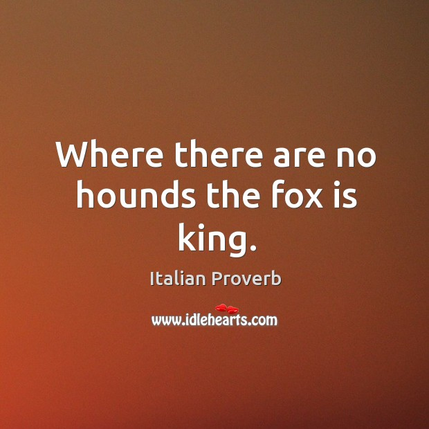 Image, Where there are no hounds the fox is king.