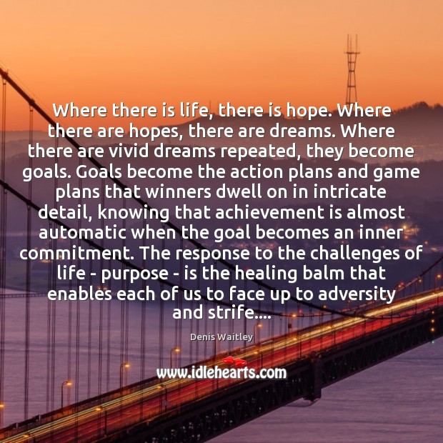 Where there is life, there is hope. Where there are hopes, there Achievement Quotes Image