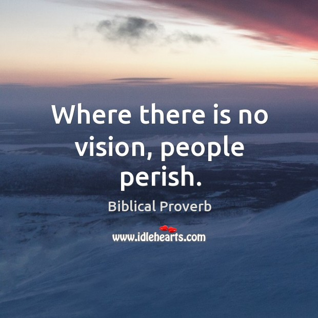 Where there is no vision, people perish. Biblical Proverbs Image