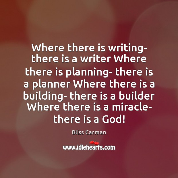 Image, Where there is writing- there is a writer Where there is planning-