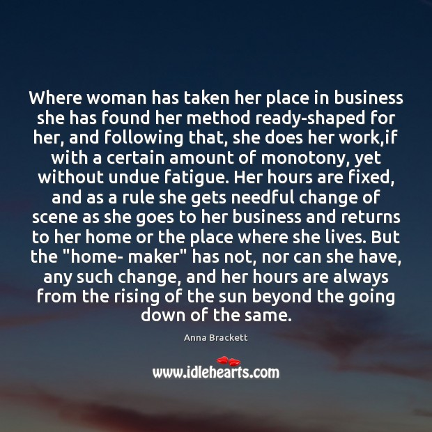 Image, Where woman has taken her place in business she has found her