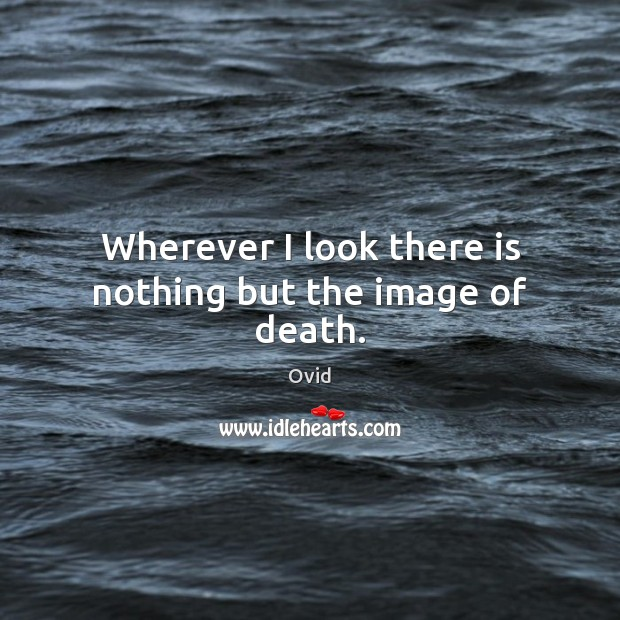 Wherever I look there is nothing but the image of death. Image