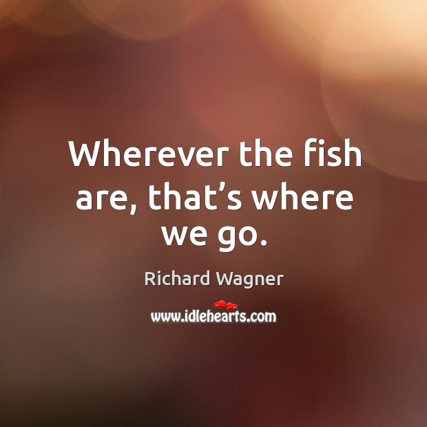 Wherever the fish are, that's where we go. Image