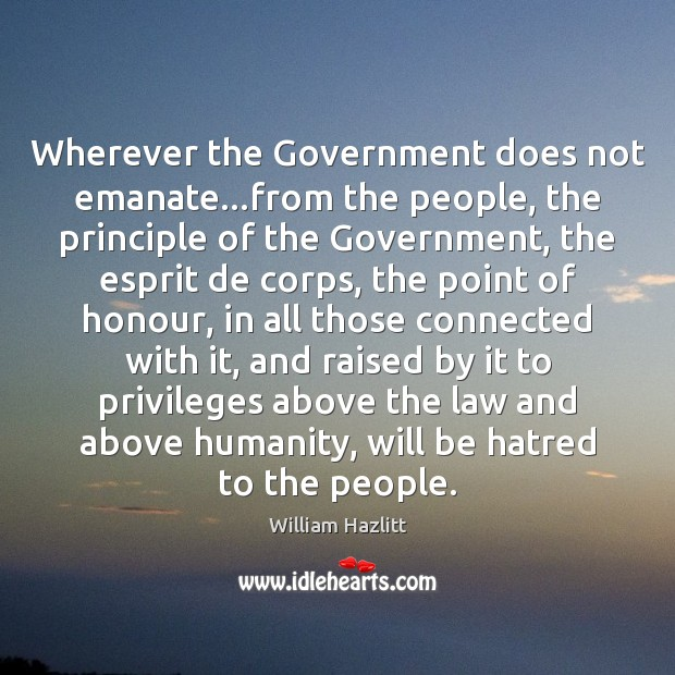 Image, Wherever the Government does not emanate…from the people, the principle of