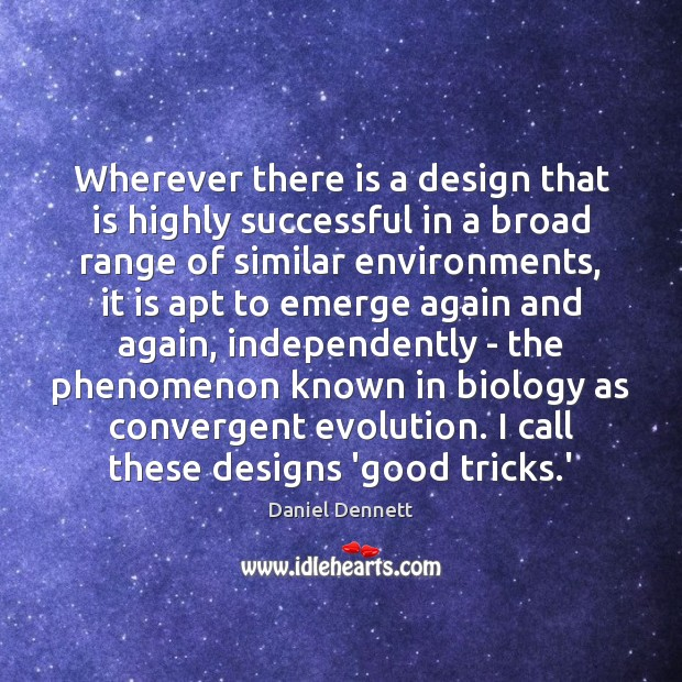 Image, Wherever there is a design that is highly successful in a broad