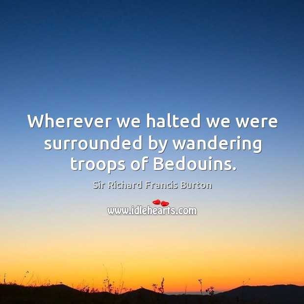 Wherever we halted we were surrounded by wandering troops of bedouins. Image