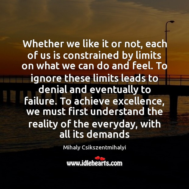 Whether we like it or not, each of us is constrained by Mihaly Csikszentmihalyi Picture Quote