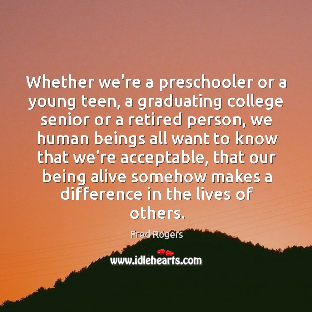 Image, Whether we're a preschooler or a young teen, a graduating college senior