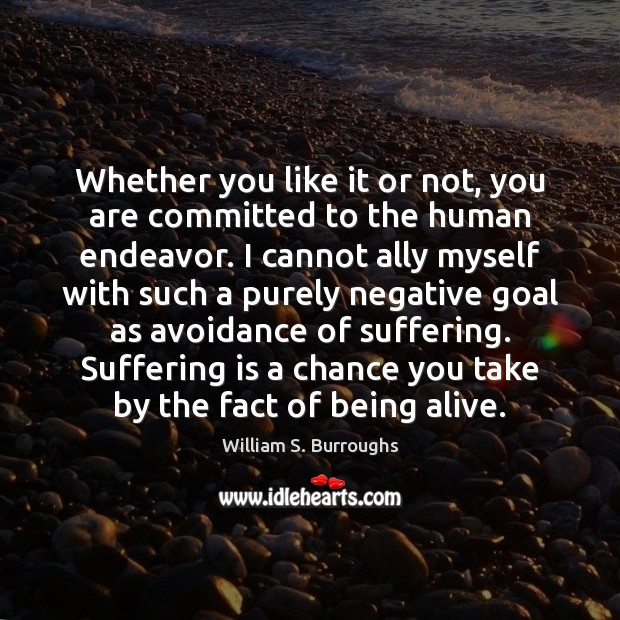 Whether you like it or not, you are committed to the human Image