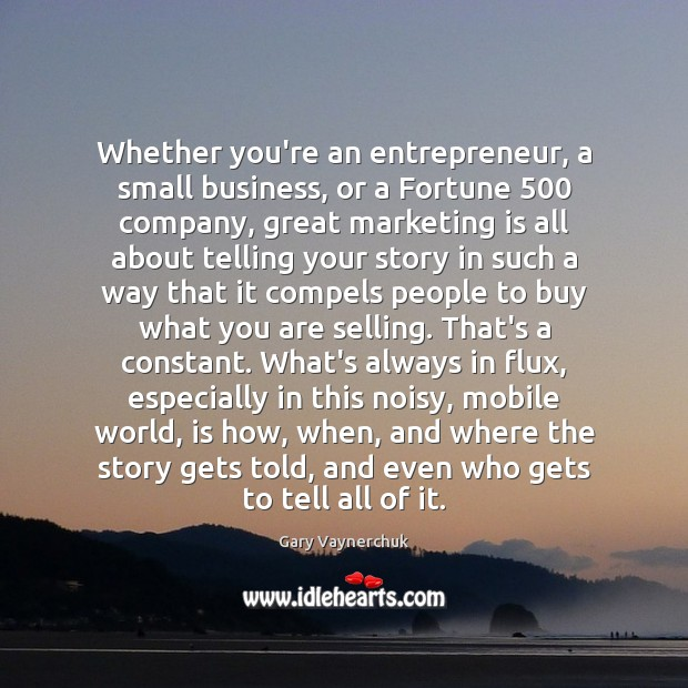 Whether you're an entrepreneur, a small business, or a Fortune 500 company, great Marketing Quotes Image