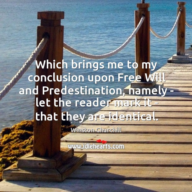 Image, Which brings me to my conclusion upon Free Will and Predestination, namely
