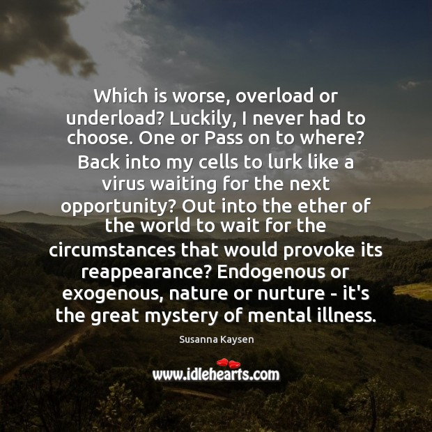 Which is worse, overload or underload? Luckily, I never had to choose. Image
