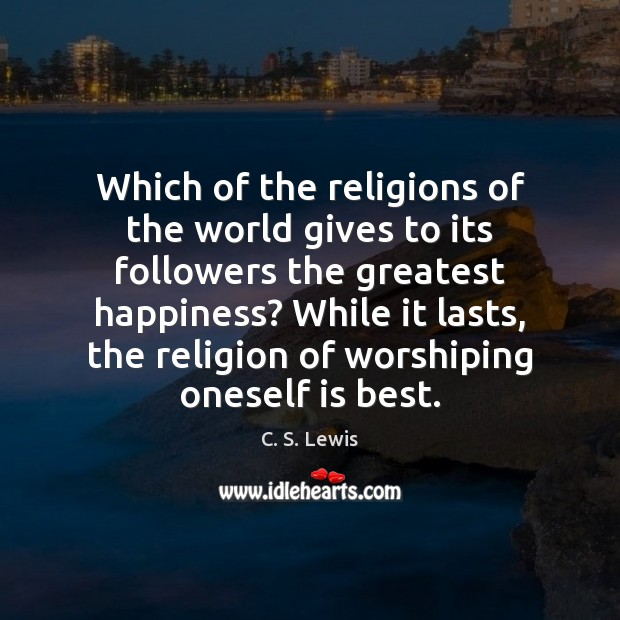 Which of the religions of the world gives to its followers the Image