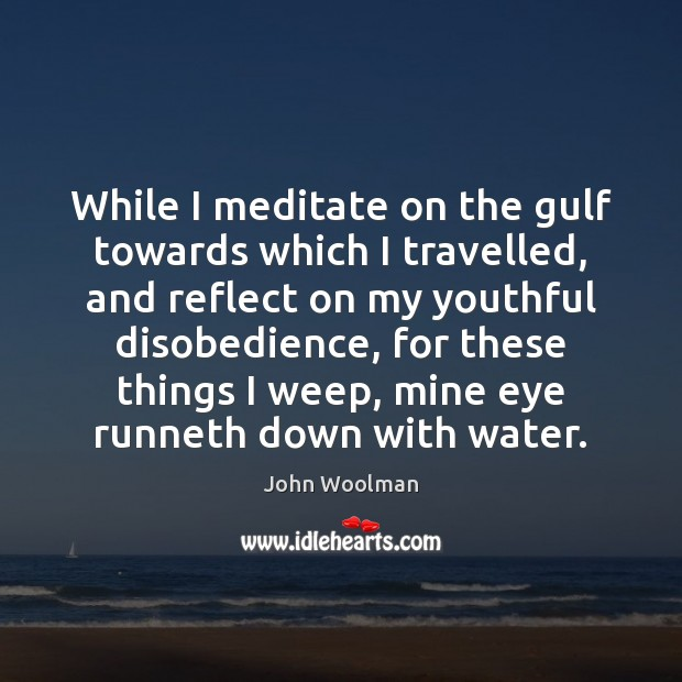 While I meditate on the gulf towards which I travelled, and reflect Image