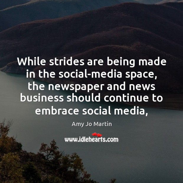Image, While strides are being made in the social-media space, the newspaper and