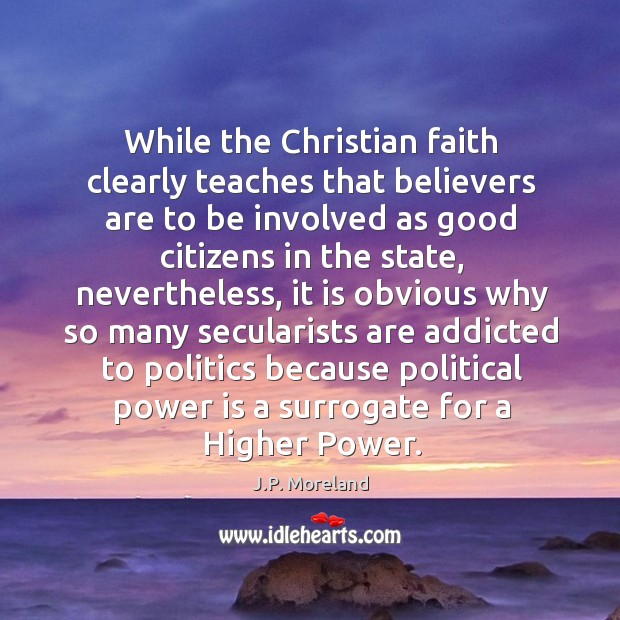 While the Christian faith clearly teaches that believers are to be involved Image