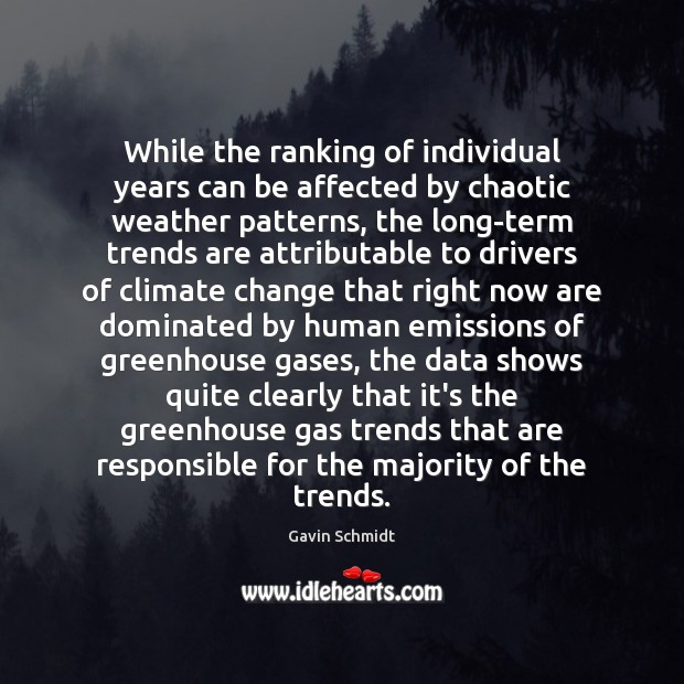 Image, While the ranking of individual years can be affected by chaotic weather