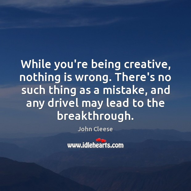 While you're being creative, nothing is wrong. There's no such thing as Image