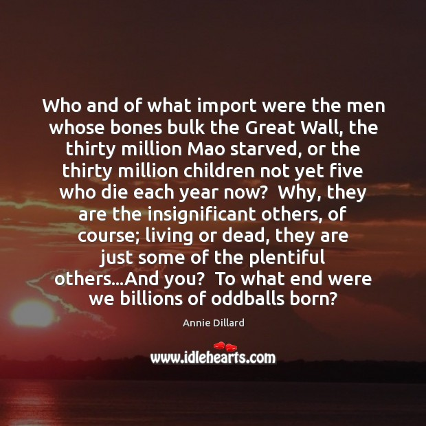 Who and of what import were the men whose bones bulk the Image