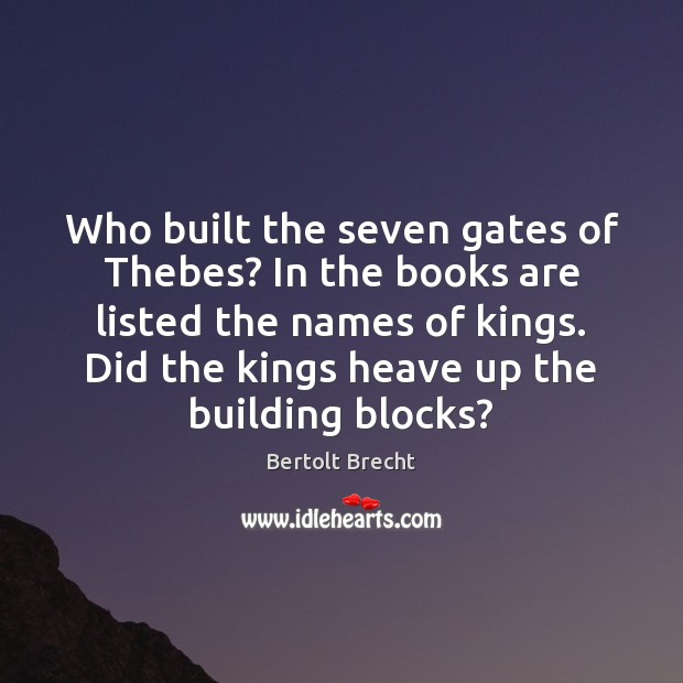 Image, Who built the seven gates of Thebes? In the books are listed
